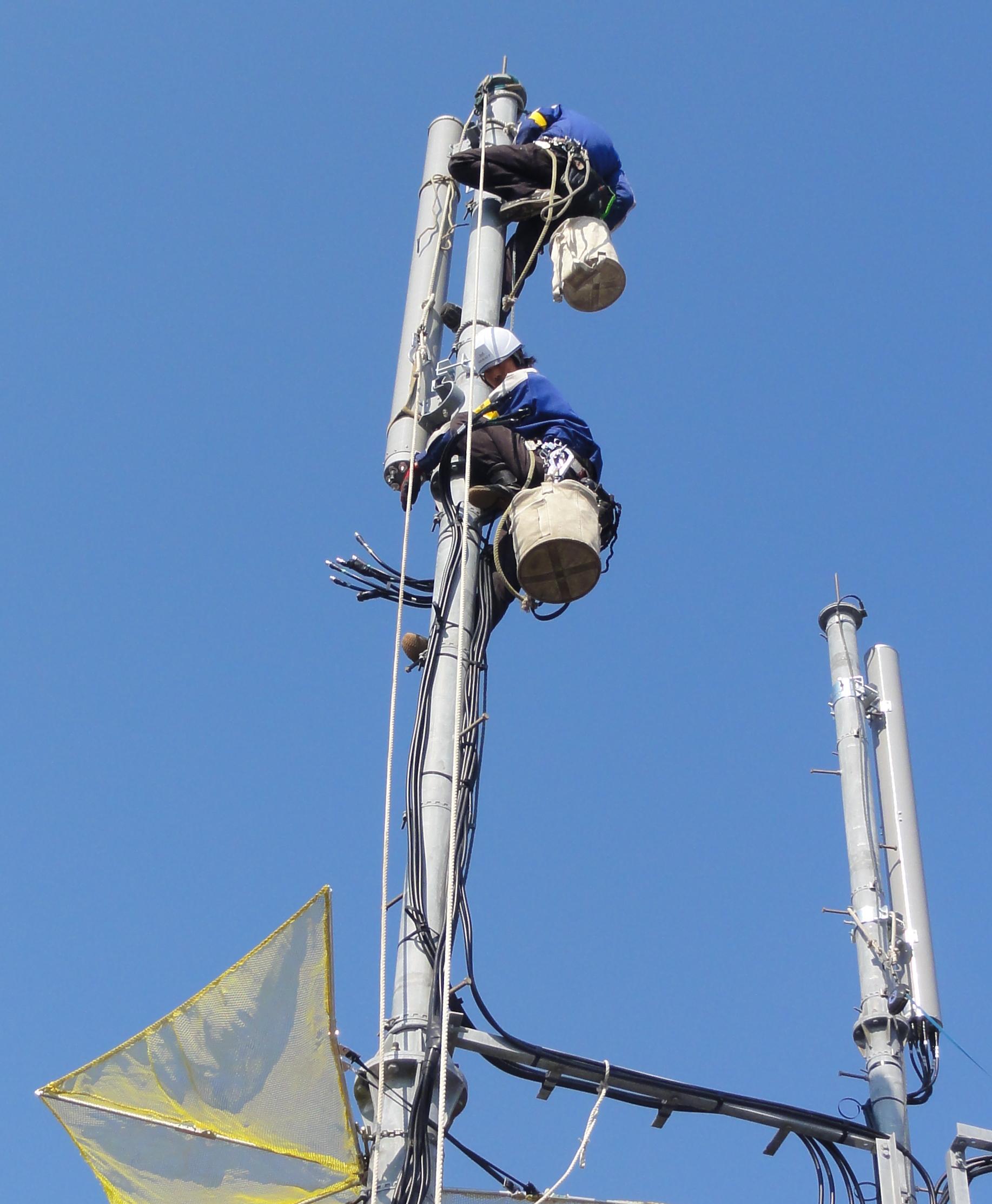 無線基地局建設工事