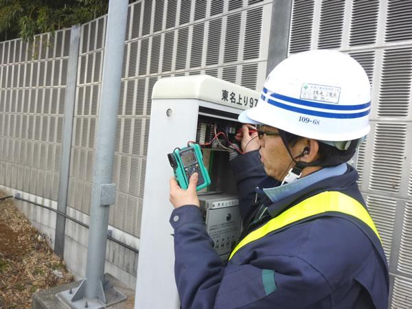 東名高速道路通信設備工事